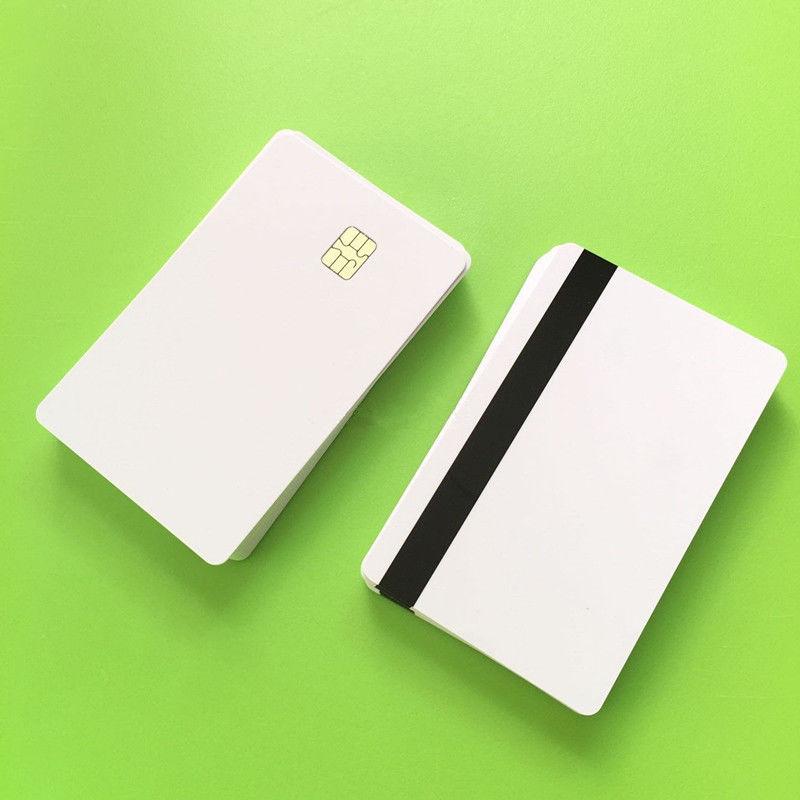 10 Pcs Blank Smart Card Sle4442 Chip mit Magnetische Streifen Hico 3 track Inkjet PVC