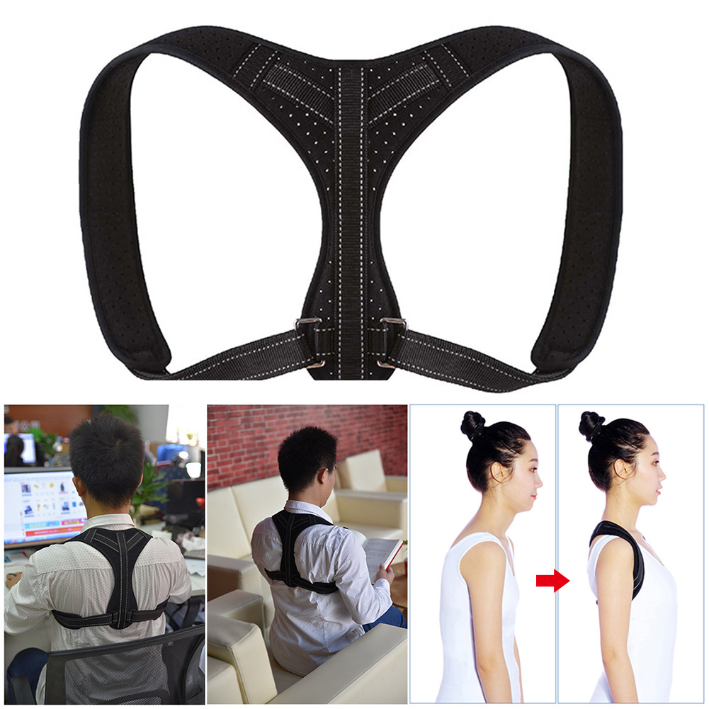 Lumbar Adjustable Strap Orthopedic Braces Belt Shoulder Adult Soft Men Women Back Support Posture Corrector Office Spine Durable