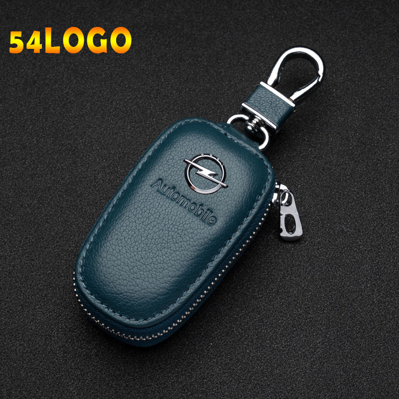 Fashion Style Car Key Cover Genuine Leather Key Wallet Car Square Zipper Key Case Wallet For Ford BMW Audi Toyota Lexus Mercedes