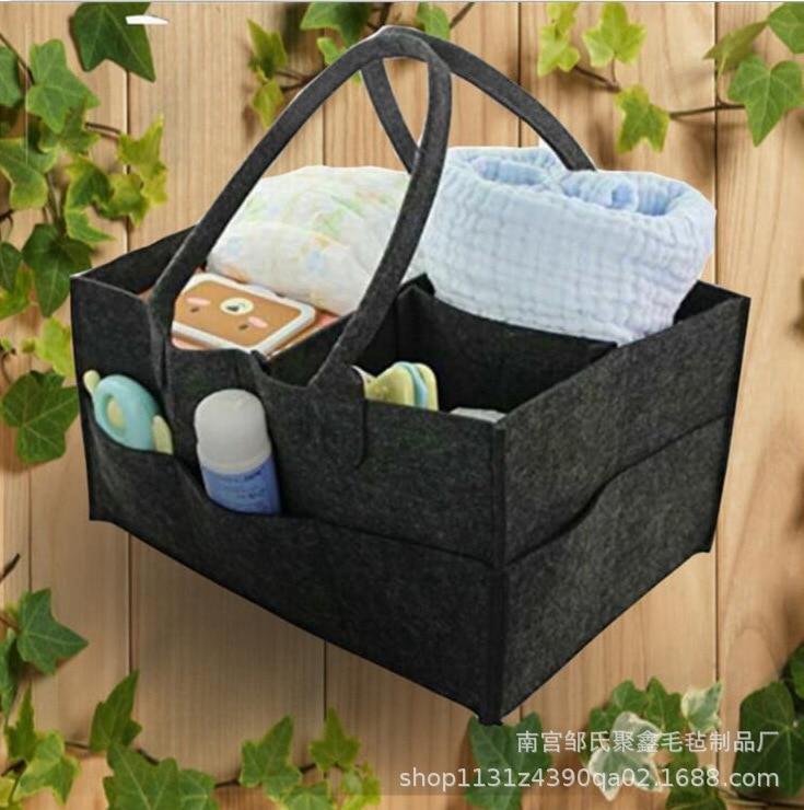 Felt Diaper Bag Baby Diapers Hand Felt Bag Mommy Travel Cosmetic Bag Felt Pouch Logo