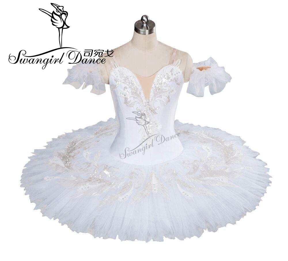 Odrasli Beli labodje baletne bale Tutu Girls Professional za Performermance Klasična baletna palačinka Tutu BT9035