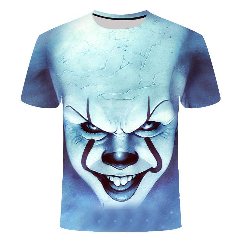 Korku filmi It kuruş akıllı palyaço Joker 3D baskı t-shirt erkekler/kadınlar Hip Hop Streetwear Tee T shirt 90s erkek serin giysiler adam üstleri