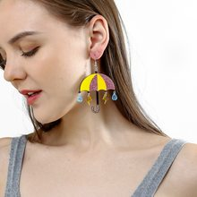 Pendientes de gota acrilicos coloridos encantadores de paraguas para mujer, divertidos i creativos, bonitos pendientes colgantes