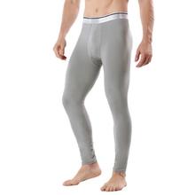 Męskie kalesony zagęścić bielizna termiczna ciepłe kalesony na kalesony Legging obcisła bielizna termiczna męska zimowa bielizna nocna tanie tanio NoEnName_Null WS0355 Mężczyźni Long Johns Poliester Elastan