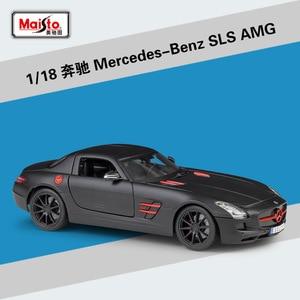Image 5 - Maisto ダイキャスト 1:18 メルセデスベンツ AMG GT/SLS/500 18K スポーツ車の金属モデル車スーパーカー合金のおもちゃ子供のためのギフトコレクション