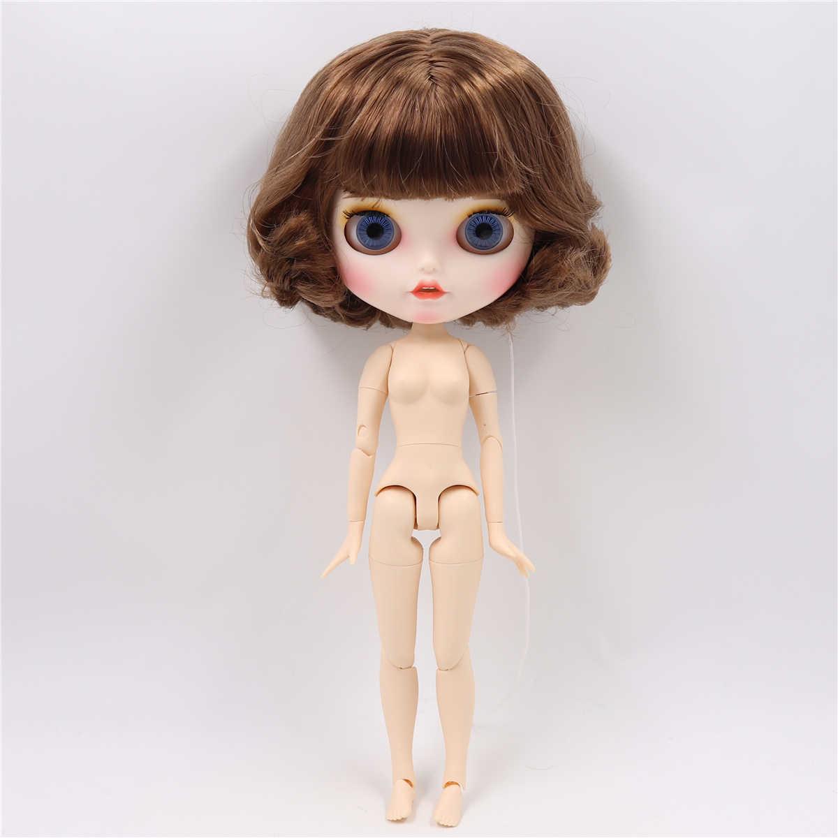 ICY factory muñecas Blyth bjd cuerpo de articulación piel blanca muñeca personalizada cara mate con dientes de juguete de 30cm