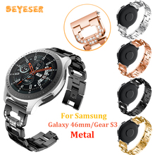 Replacement Metal watch band For Samsung Galaxy 46mm/gear S3 watches strap Rhinestone For huawei watch GT Bracelet wristband stainless steel for huawei watch gt watches strap 22mm for samsung galaxy 46mm gear s3 watch band replacement bracelet wristband