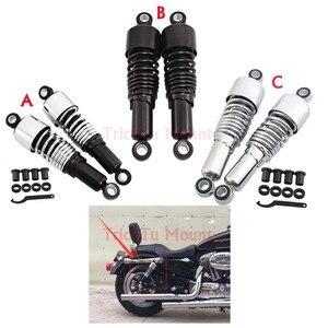 Image 1 - 267mm Hinten Stoßdämpfer Motorrad Einstellbare Federung Schocks Frühling Für Harley Sportster XL1200 883 Touring Road King FLHR