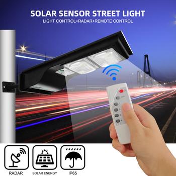 40W LED Solar Street Light Wall Lamp Light Remote Control+Human Body Induction+3 Working Mode Outdoor Waterproof Security Lamp