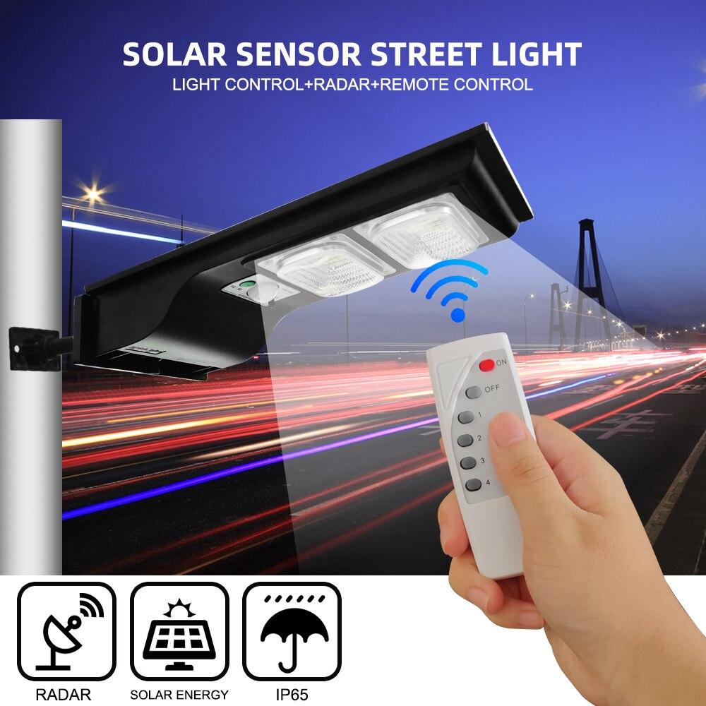40W LED Solar Straße Licht Wand Lampe Licht Fernbedienung + Menschlichen Körper Induktion + 3 Arbeits Modus Outdoor wasserdichte Sicherheit Lampe