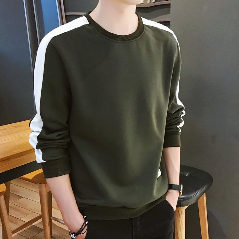 2020 Men's Hoodies Long Sleeve Sweatshirt  Winter Solid Color Army Green Sweatshirt Streetwear Slim Hoodies Men M-3XL Big Size