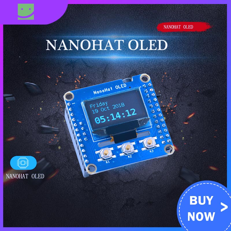 NanoHat OLED, Python Programming Driver Open Source Support NanoPi NEO, NEO2, Air, Etc.