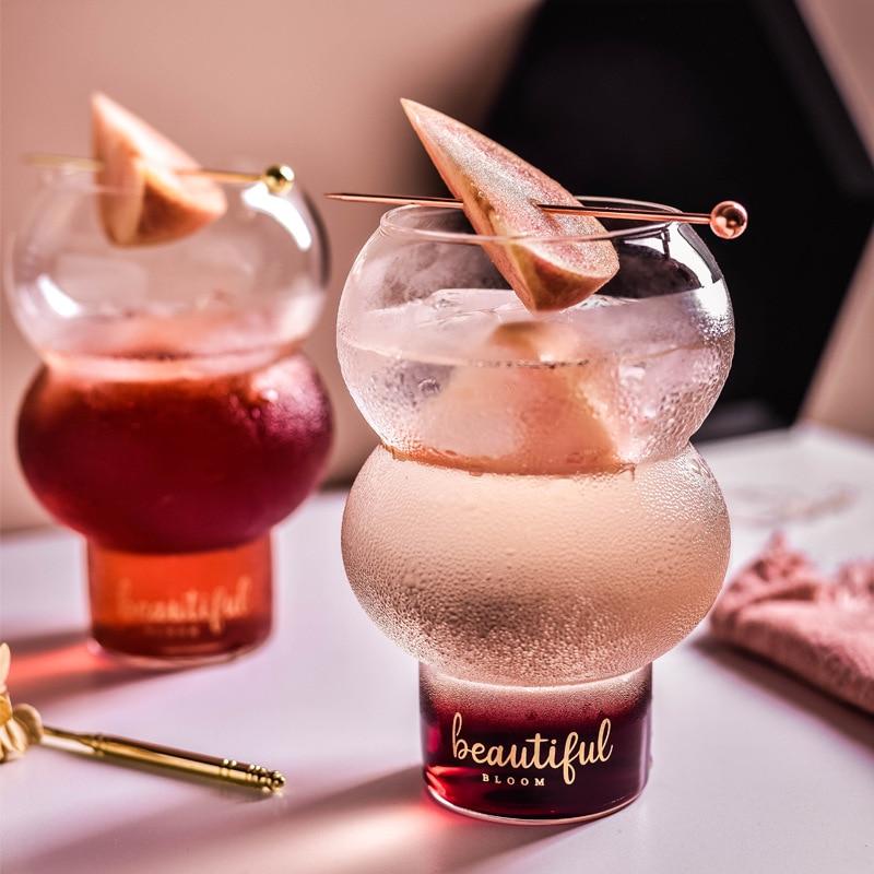 Copa de vidrio transparente Estilo nórdico ins para leche, copa de vidrio para mousse de yogur, para desayuno, café, cóctel, helado, postre, taza para el hogar