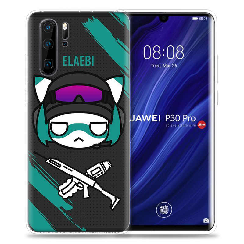 קשת שש מצור מקרה עבור Huawei P20 P30 P חכם Z בתוספת 2019 P10 P9 P8 Mate 30 10 20 לייט פרו שק סיליקון טלפון Coque כיסוי