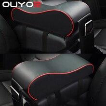 Кожаный Автомобильный центральный подлокотник, черная Автомобильная центральная консоль, подлокотник для рук, коврик для сиденья, подушка,...