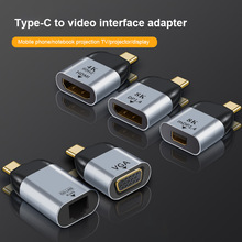 ANMONE USB Type-C to HDMI/VGA/DP HD Video Converter 4K 60Hz For MacBook Huawei Samsung Xiaomi HDMI USB-C Type C Adapter