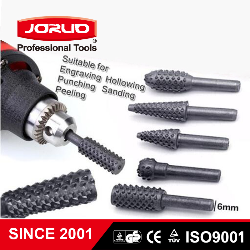 5PCS HSS Rotating Thorn Polishing Accessories DIY Electric Grinding Head Drill Bit Woodworking Tools