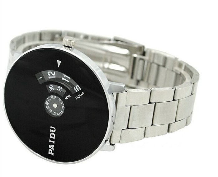 Stainless-Silver-Band-PAIDU-Quartz-Wrist-Watch-Black-Turntable-Dial-Mens-Gift-Electronic-Watch-digital-Watch (1)