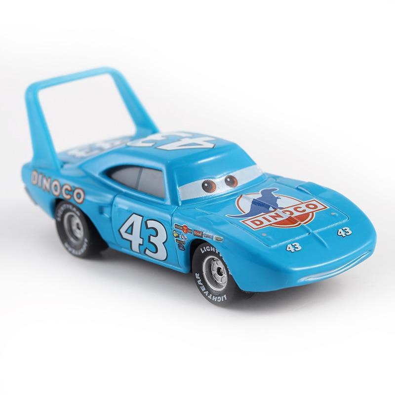 Disney Pixar Cars 2 Cars 3 Lightning McQueen Mater Jackson Storm Ramirez 1:55 Diecast Vehicle Metal No.43 Car King Boy Toys Gift