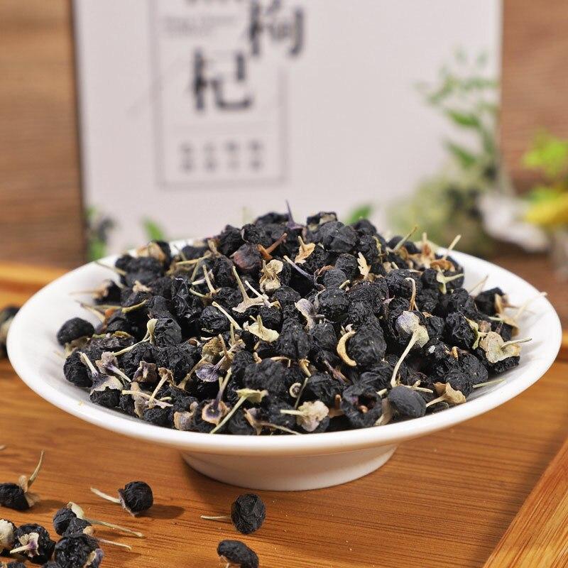 500g Wild New Fruit Black Wolfberry Black Fruit Wolfberry Gift Box Health Tea