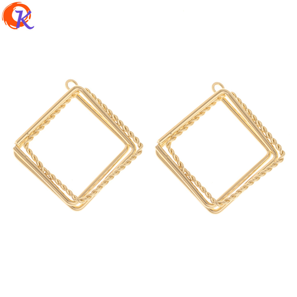 Cordial Design 50Pcs 26*28MM Jewelry Accessories/Earrings Connectors/Geometry Loop Shape/DIY Making/Hand Made/Earring Findings