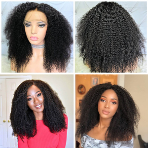 Image 3 - Afro Kinky kıvırcık dantel ön peruk 13x6 kısa Bob İnsan saç peruk 250 yoğunluk U parçası peruk brezilyalı Frontal peruk bakire 4B 4C Dolago
