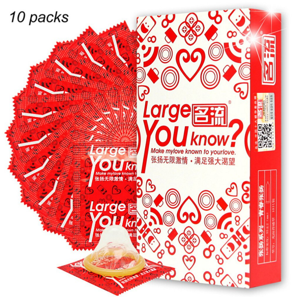 10pcs Plus Size 55mm Condones Large Size Condoms for Big Penis True Man Ultra Safe Penis Sleeve Natural Latex Contraception Tool