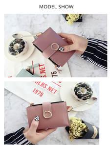 Purse Card-Bag Clutch Money-Clip Slim Wallet Small Women Ladies Fashion-Brand