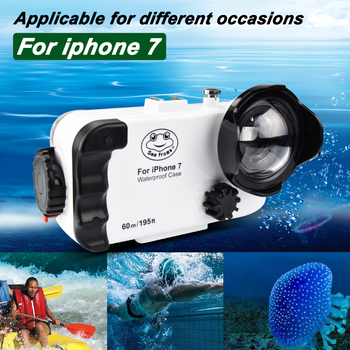 For Iphone 7 Waterproof Phone Case 60M Underwater Mobile Phone Housing For Diving Swimming Surfing 1pc