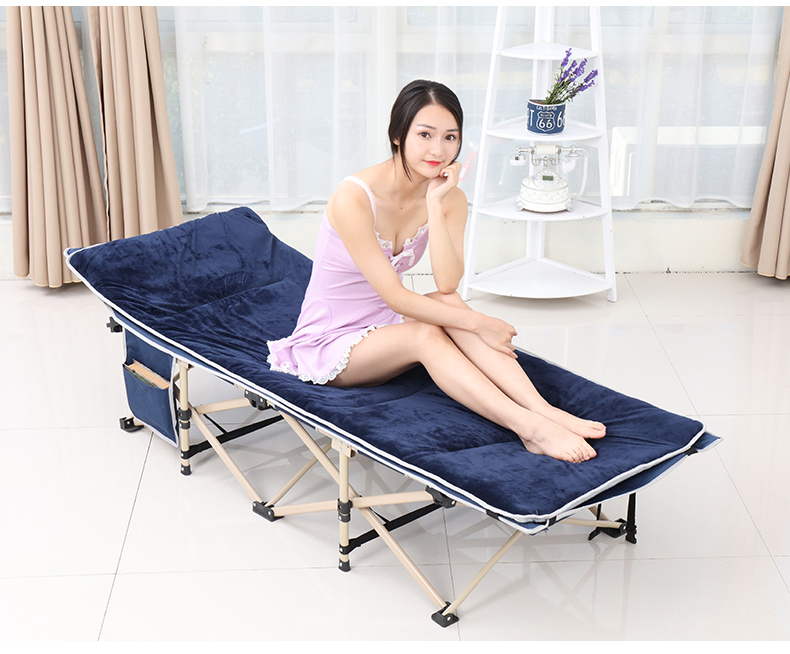 Folding Bed Single Nap Bed Office Simple Nap Recliner Multifunctional Adult Household Marching Portable Chair