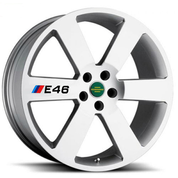 4 X Car Tires & Rim Sticker Decal Accessories for BMW 1 3 5 Series X1 X3 X5 X6 M3 M5 E30 E34 E36 E39 E46 E60 E90 image