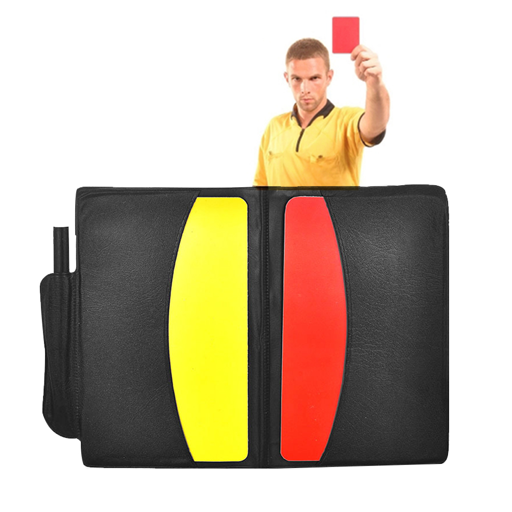 Portable For Soccer Games Soccer Referee With Case+Pencil Sport Match Training Accessories Red/yellow Cards Convenient