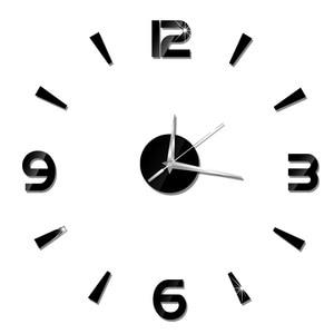 Image 3 - 2019 New 3D Wall Clock Mirror Wall Stickers Fashion Living Room Quartz Watch DIY Home Decoration Clocks Sticker reloj de pared