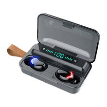 F9-V5.0 bluetooth 5.0 fones de ouvido tws impressão digital toque fone de ouvido estéreo de alta fidelidade in-ear fones de ouvido sem fio display led