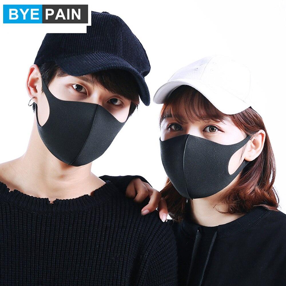 Byepain Teile Pm Virus Organische 5 Neue Maske Kalt Block Schwamm Gesicht Mode Allergische 4 Atmungsaktive Mund 3 2 7 los Us 3d Staub Maske-in Anti
