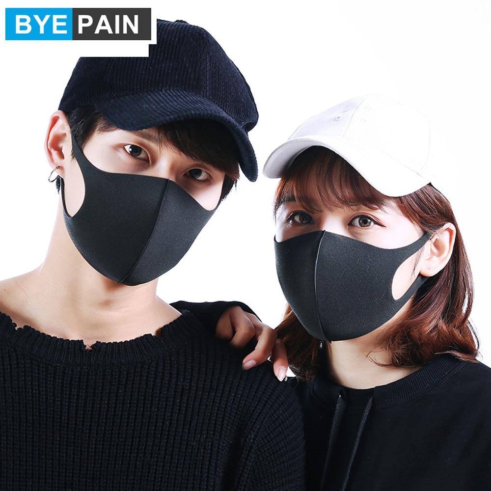 3Pcs/Lot BYEPAIN 3D Anti-allergic PM2.5 Mouth Mask, Fashion Dustproof Cold Virus Block Breathable New Organic Sponge Face Mask