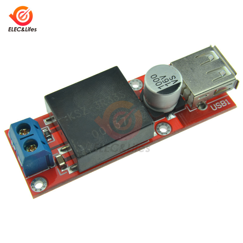 1334# LM2596 DC-DC Adjustable Step-Down Power Converter Module LED Voltmeter