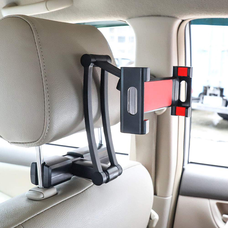 Universal Car Rear Pillow Holder Stand for Ipad 7-13' Tablet 360 Rotation Bracket Back Seat Car Mount Handrest Soporte Tablet