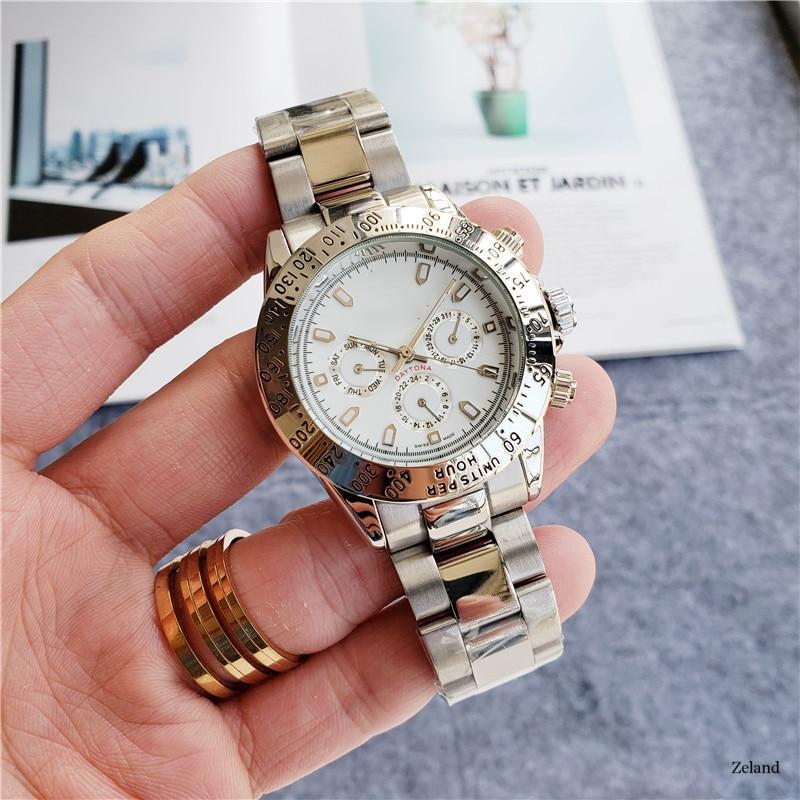 marca superior relógio cronógrafo rlx daytona cronômetro moda presente montre homme