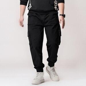 Image 3 - Plus  7XL 6XL Hip Hip Streetwear Mens Camouflage Joggers Pants 2020 Men Cargo Pant Trousers Elastic Waist Harem Pant Men