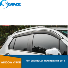 Side Window Deflectors For Chevrolet Tracker 2014- 2018 Car Wind Deflector Sun Guard  For Chevrolet Tracker 2014- 2018 SUNZ цена