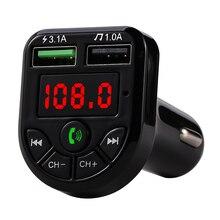 Elistooop Fm-zender Bluetooth 5.0 Car Kit Led Display Dual Usb Autolader 3.1A 1A 2 Port Usb MP3 Muziek speler Tf/U Disk