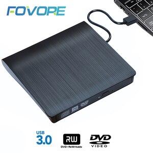 Image 1 - USB 3,0 тонкий внешний DVD RW CD записывающее устройство, устройство для чтения и записи дисков, оптический привод для ноутбука, ПК, dvd