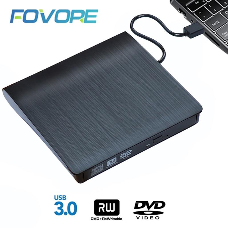 USB 3,0 тонкий внешний DVD RW CD, записывающий привод, устройство для чтения, оптические приводы для ноутбука, ПК, dvd, горелка, dvd, портативный