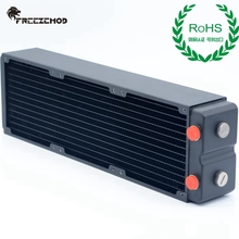 Freezemod Computer Pc Waterkoeler Messing Radiator 3 Lagen 65 Mm Dikke Koperen Vinnen Cpu Koellichaam Rohs Certificering. TSRP-HP65-360