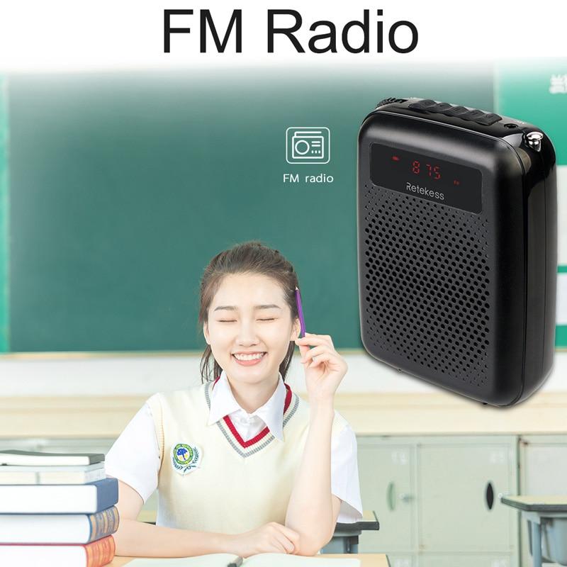 RETEKESS PR16R megafon amplificator vocal portabil profesor microfon - Audio și video portabile - Fotografie 2