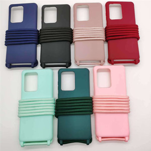 Чехол для телефона карамельного цвета, ожерелье, шнурок с веревкой для Samsung Galaxy S20 Plus S20 Ultra A51 A71, мягкий чехол, оболочка