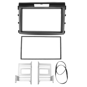 Image 2 - 2 din rádio do carro dvd fascia para honda crv CR V 2012 estéreo de áudio quadro painel placa montagem traço instalação bezel guarnição kit