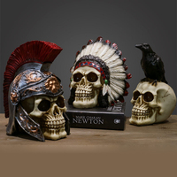 Retro Creative Miniature Skull Model Role Play Sculpture For Home Decoration Resin Ornaments Crafts Showcase Decor Accessories