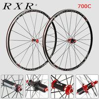 RXR 700c Laufradsatz Carbon 7/8/9/10/11 Speed Straße Fahrrad Rad Sets F & R Klammer Felge Bike Rad Klammer V Bremse QR 100/130mm-in Fahrrad-Rad aus Sport und Unterhaltung bei